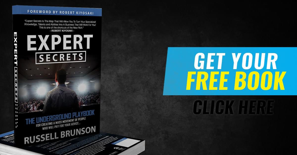 Free Expert Secrets Book + Training Russell Brunson